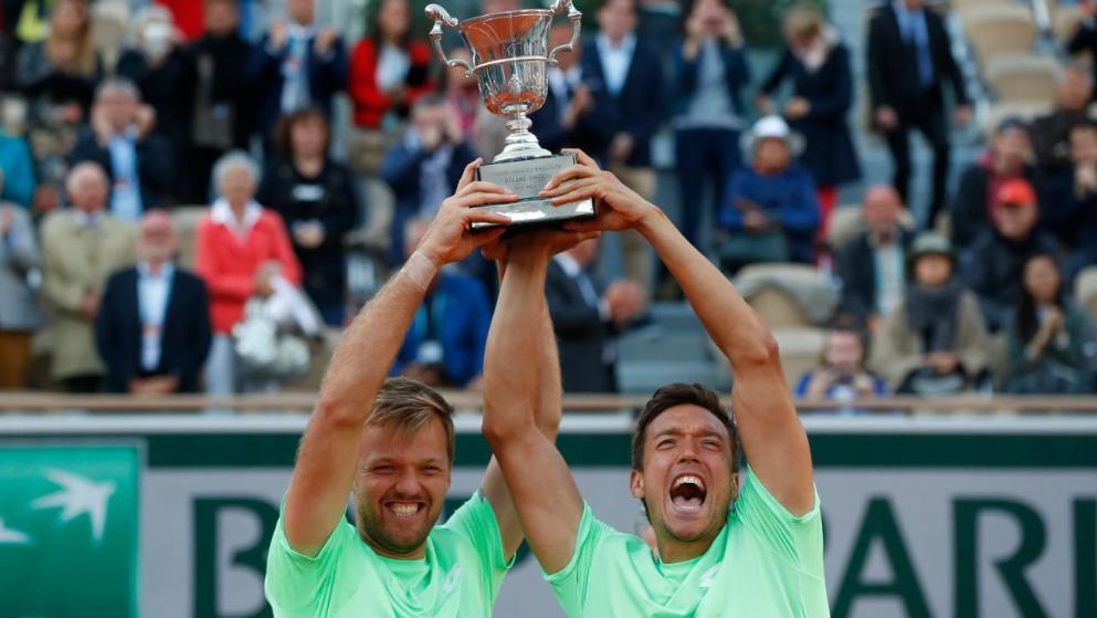 2019 und 2020 Der Rot-Weiss Spieler Andreas Mies gewinnt mit seinem Partner Kevin Krawietz die French Open