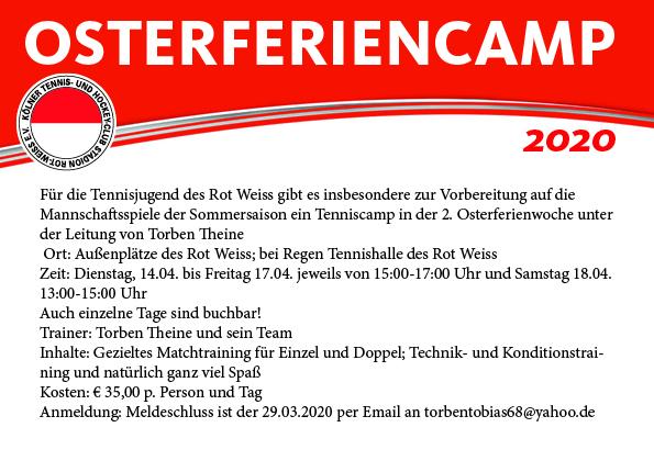 Tennis: Osterferiencamp 2020
