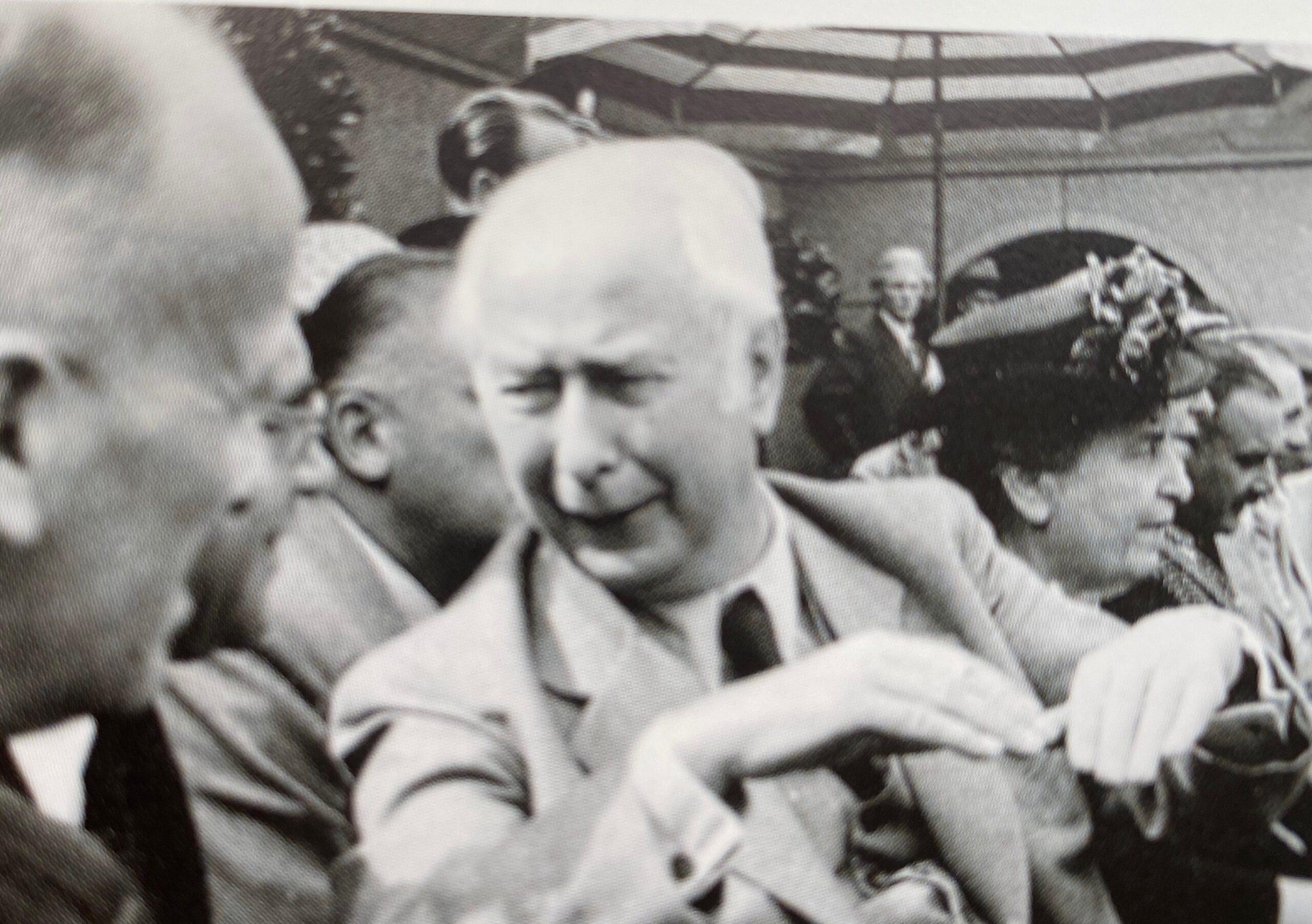 1951 Daviscupbegegnung Deutschland-Belgien vor 21.000 Zuschauern