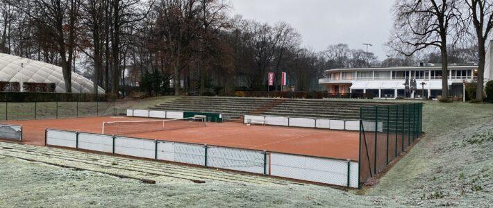 Tennisplätze am Montag, den 30.11.2020, wegen Frost gesperrt