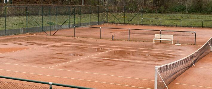 Tennisplätze bleiben am Dienstag, den 1.12.20 gesperrt
