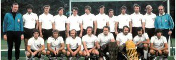 1972 Fünf Rot-Weisse (Kaessmann, Klaes, Michel, Strödter, Thelen) gewinnen bei den Olympischen Spielen in München die Goldmedaille