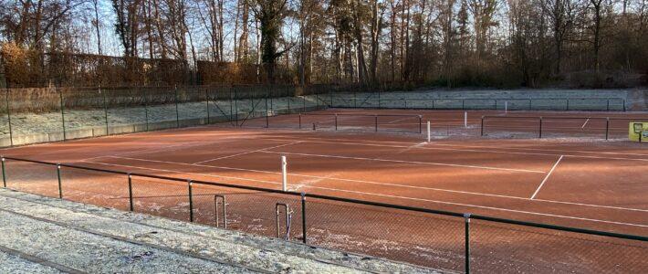 Tennisaußenplätze gehen in die Winterpause