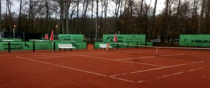 Tennisplätze 2 – 4 bleiben über das Wochenende gesperrt
