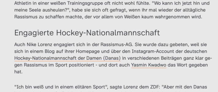 Lesenswerter Artikel über Rassismus in Deutschland mit Nike Lorenz