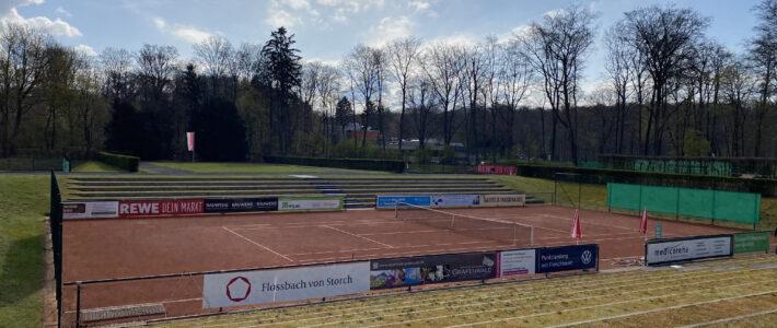 Tennisplatzbelegung am Wochenende