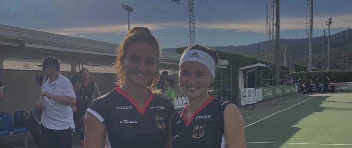 Inma Hofmeister und Emma Boermans  mit U21 Team zur WM-Vorbereitung im spanischen Club Terrassa