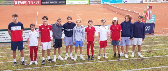 Leonard Sickinger und Daniel Franceschini heißen die neuen Clubmeister der männlichen Jugend!